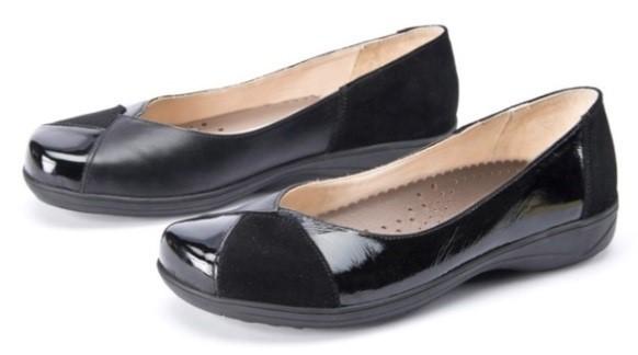 BÄR Schuhe Exquisit Sissy schwarz Kalbnappa hydro/Kalbsvelour hydro/Kalblack
