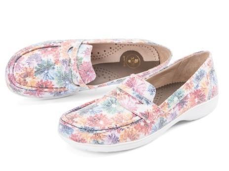 BÄR Schuhe Exquisit Audrey floral/Chevreau bedruckt