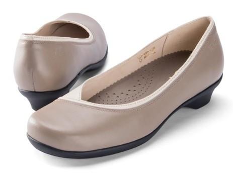 BÄR Schuhe Exquisit Sefora fango beige/Rindnappa