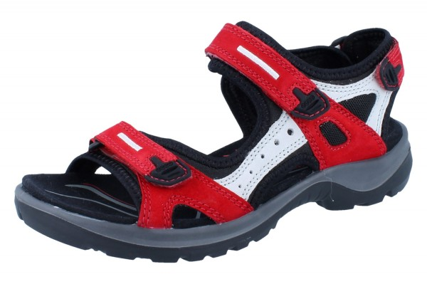 ECCO Women`s offroad Yucatan Sandal Nubuk chili red/concrete/black