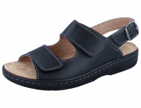 LONGO 1006510 Sandale schwarz/Leder