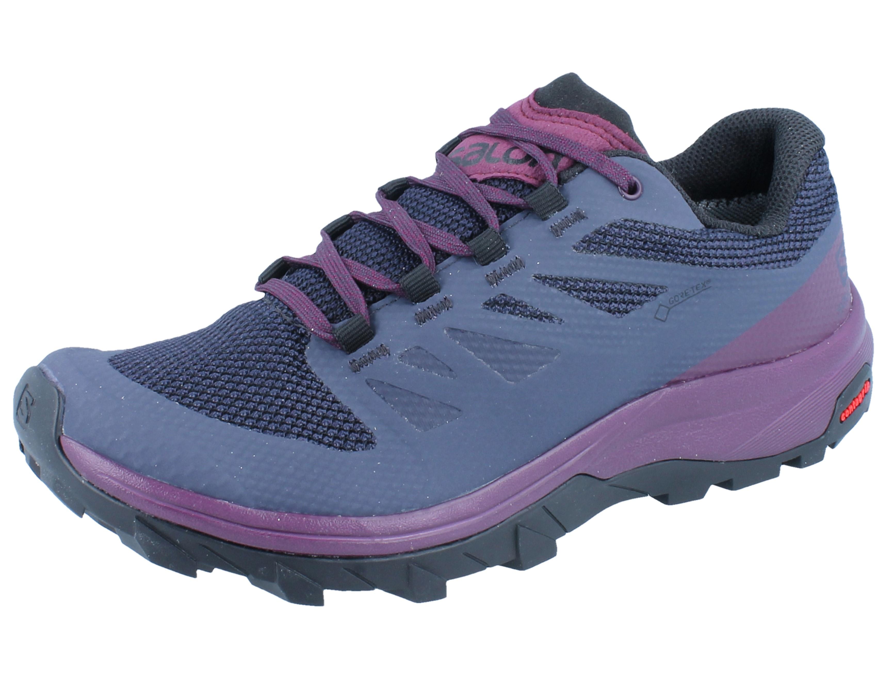 damen Salomon OUTLINE GTX Hikingschuh graphitepotent purple