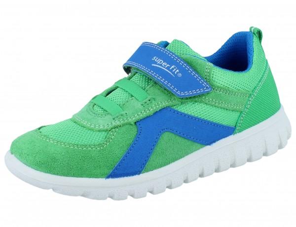 SUPERFIT Sport7 mini grün/blau Velourleder/Textil Weite M