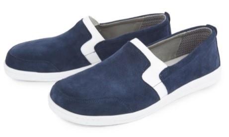 BÄR Schuhe Classic Marina blau/weiss Kalbvelours