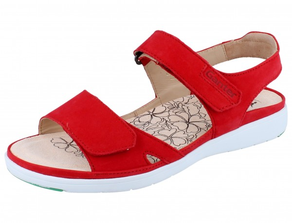 GANTER Gina G Sandale red/Softnubuk