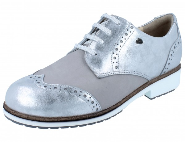 FINN COMFORT Asiago argento/perla Slide/Piuma
