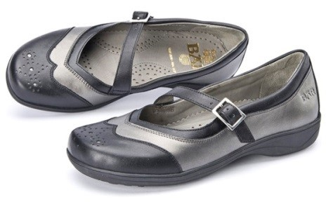 BÄR Schuhe Classic Vania schwarz/anthrazit Kalbnappa hydro/Kalbnappa
