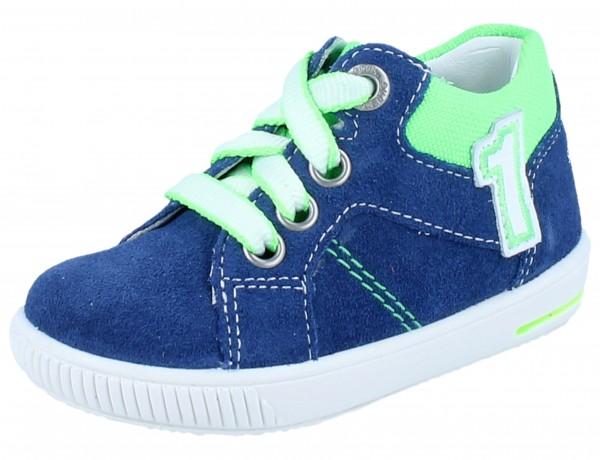 SUPERFIT Moppy blau/grün Velourleder Weite M