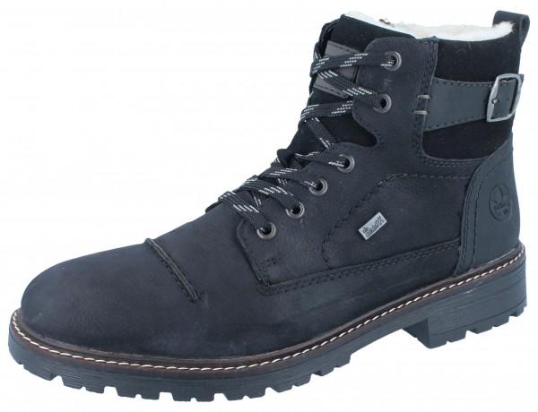 RIEKER 32030-01 Stiefel schwarz Nubukleder/Textil