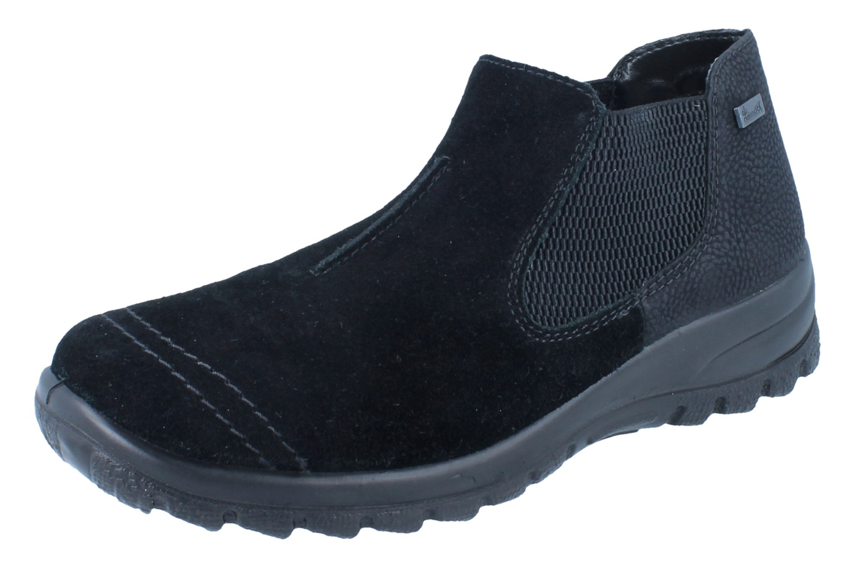 Rieker Schuhe Slipper braun Leder Lammwolle Warmfutter Tex komfort Herren