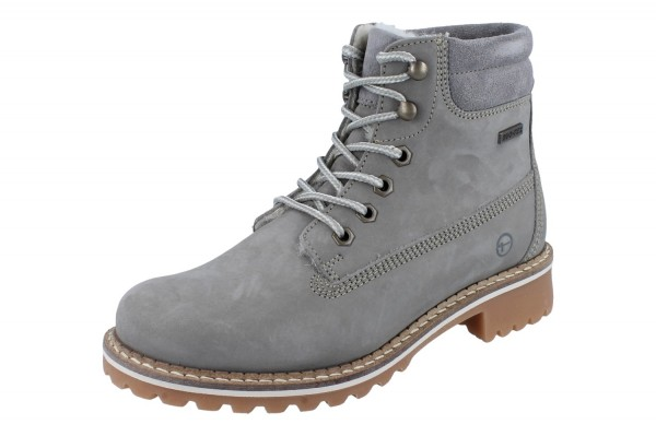 TAMARIS Stiefel Nubuk light grey